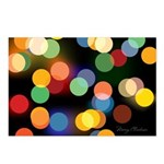 Merry Christmas Lights Postcards (Package of 8)