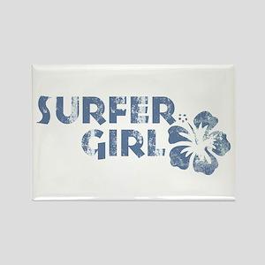 Surfer Girl Rectangle Magnet