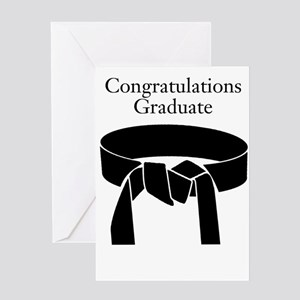 Black belt Greeting Cards