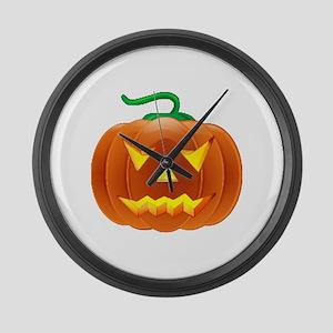 Halloween Pumpkin Large Wall Clock