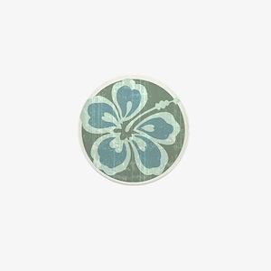 Beach Flower Mini Button