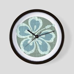 Beach Flower Wall Clock