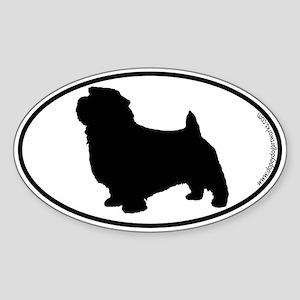Norfolk Terrier SILHOUETTE Oval Sticker