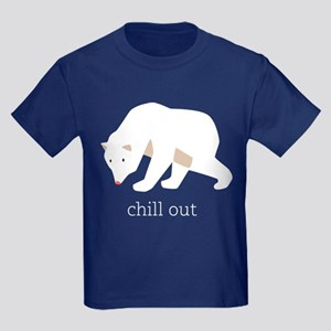 Chill Out Polar Bear Kids Dark T-Shirt