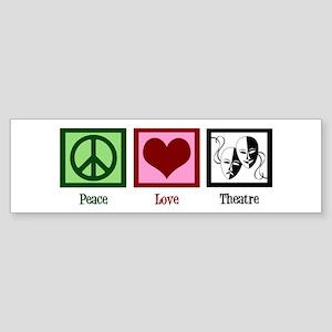Peace Love Theatre Sticker (Bumper)