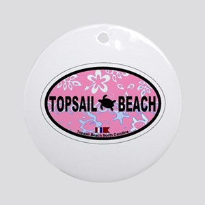 Topsail Beach NC - Oval Design Ornament (Round)