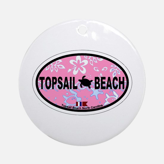 Topsail Beach NC - Oval Design Ornament (Round)