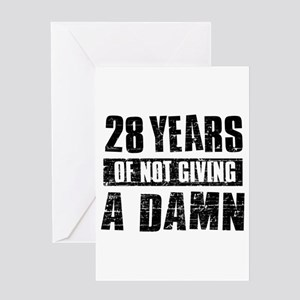 28th birthday greeting cards cafepress 28 years of not giving a damn greeting card bookmarktalkfo Gallery