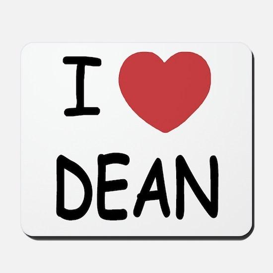 I heart Dean Mousepad