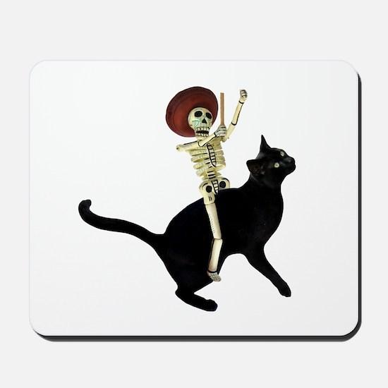 Skeleton on Cat Mousepad