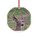 Velvet Buck Ornament (Round)