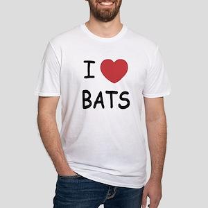 I heart bats Fitted T-Shirt
