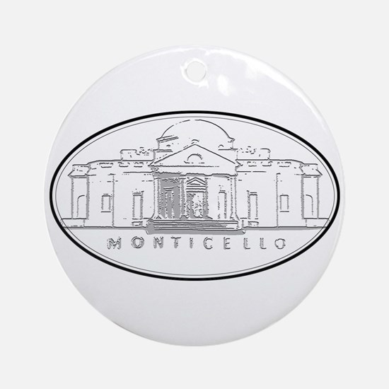 Monticello Ornament (Round)