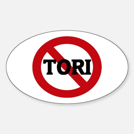 Anti-Tori Oval Decal