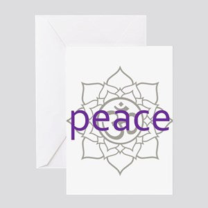 peace Om Lotus Blossom Greeting Card