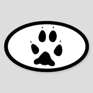 Wolf Track Pawprint Euro Sticker