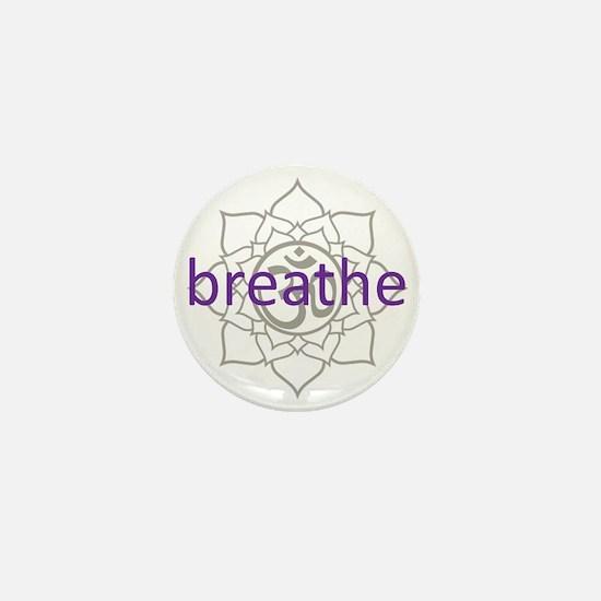 breathe Om Lotus Blossom Mini Button