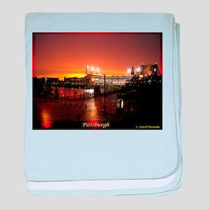Pittsburgh Sunset baby blanket