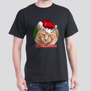 Meowy Christmas Tabby Dark T-Shirt