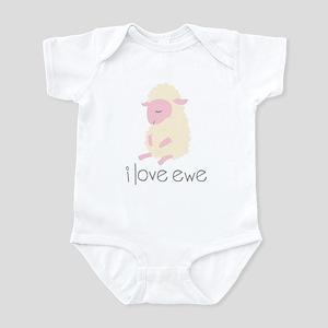 I Love Ewe Sheep Infant Bodysuit