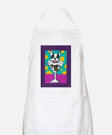 Boston Terrier Martini BBQ Apron