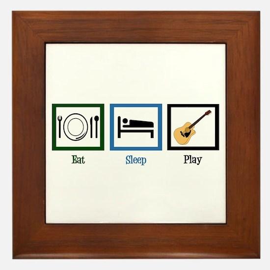 Eat Sleep Guitar Framed Tile