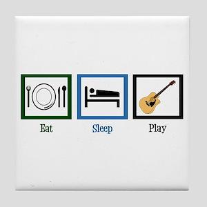 Eat Sleep Guitar Tile Coaster
