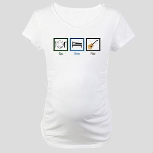 Eat Sleep Guitar Maternity T-Shirt