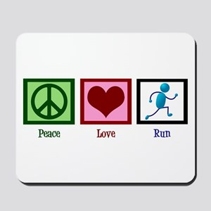 Peace Love Run Mousepad