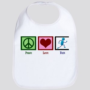 Peace Love Run Bib