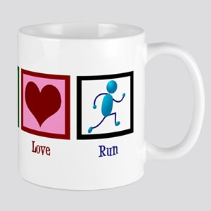 Peace Love Run Mug
