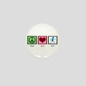 Peace Love Run Mini Button