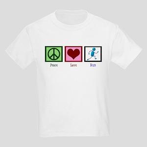 Peace Love Run Kids Light T-Shirt