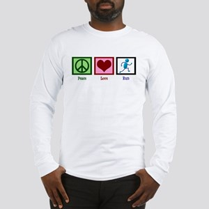 Peace Love Run Long Sleeve T-Shirt
