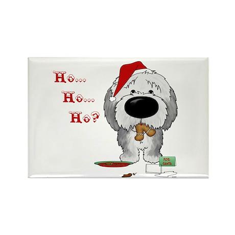 Sheepdog Santa's Cookies Rectangle Magnet (10 pack