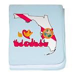 ILY Florida baby blanket