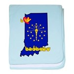 ILY Indiana baby blanket