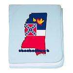 ILY Mississippi baby blanket