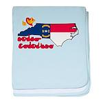 ILY North Carolina baby blanket