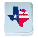 ILY Texas baby blanket
