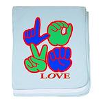 Square F.S. LOVE Infant Blanket