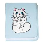 Longhair ASL Kitty Infant Blanket