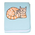 OrangeTabby ASL Kitty Infant Blanket