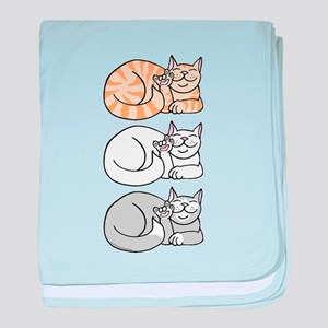 3 ASL Kitties Infant Blanket