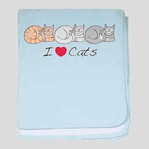 I Heart Cats Infant Blanket