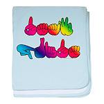 Deaf Pride Rainbow baby blanket