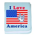 ILY America Flag Infant Blanket