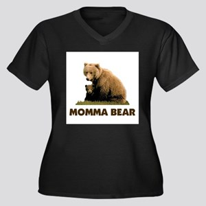 PROTECTING MY CUBS Women's Plus Size V-Neck Dark T