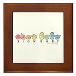 Captioned Sign Baby SQ Framed Tile