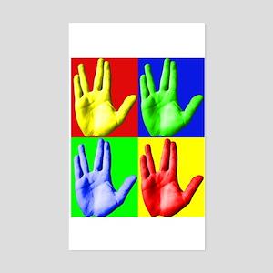 Vulcan Hand Sticker (Rectangle)